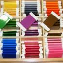 Цветные таблички Монтессори