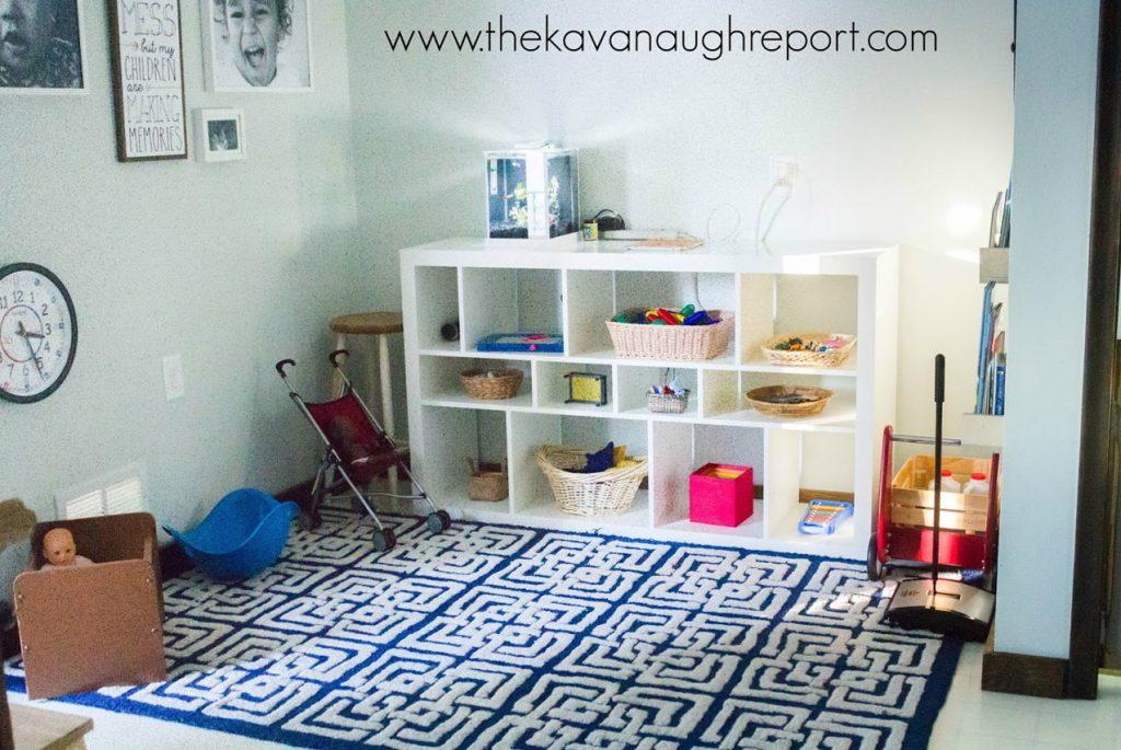 Монтессори-комната для двоих детей разного возраста