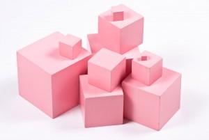 Монтессори-материал розовая башня