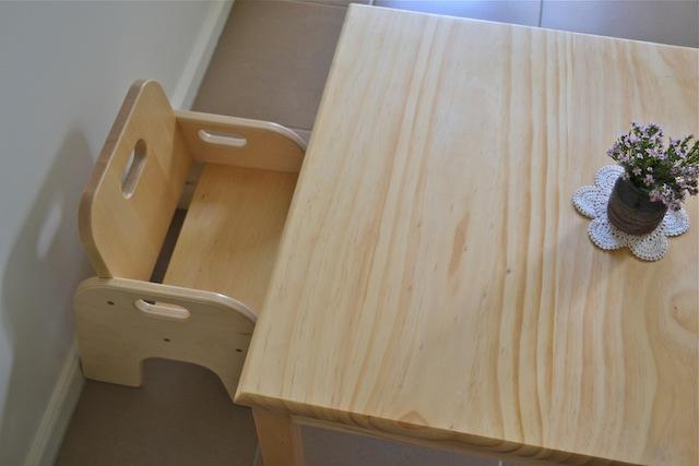 Стул и стол по росту ребёнка
