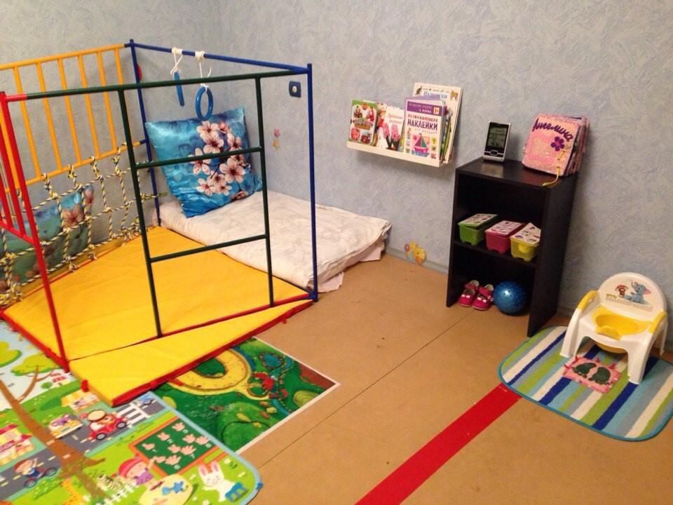 Спортивный уголок в детской развивающей комнате по принципам Монтессори