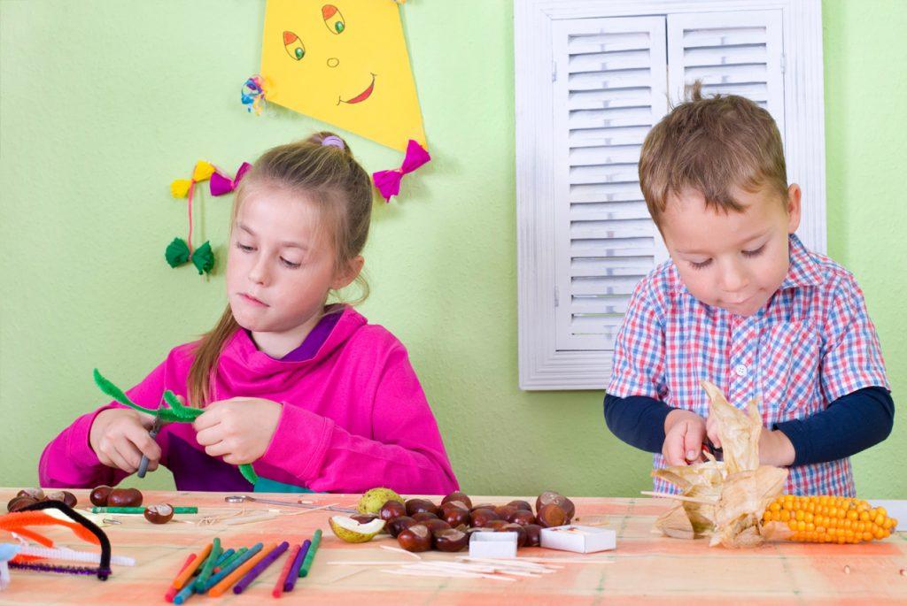 Природные материалы в игре с ребёнком