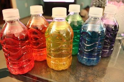 Цветные баночки
