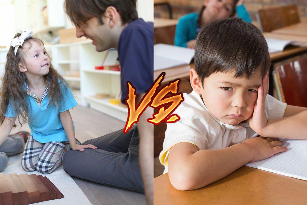 В чём разница между Монтессори и традиционной школой