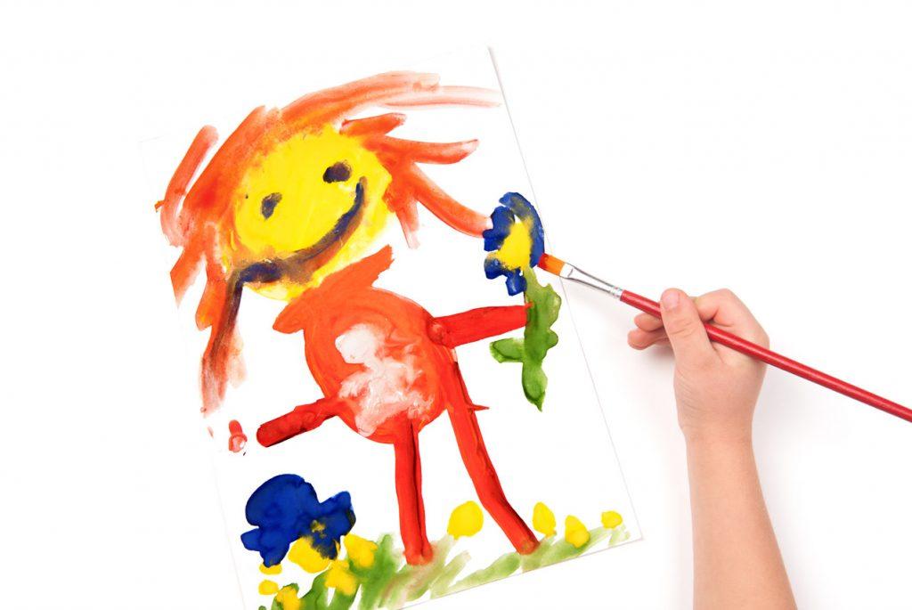 Детский рисунок красками
