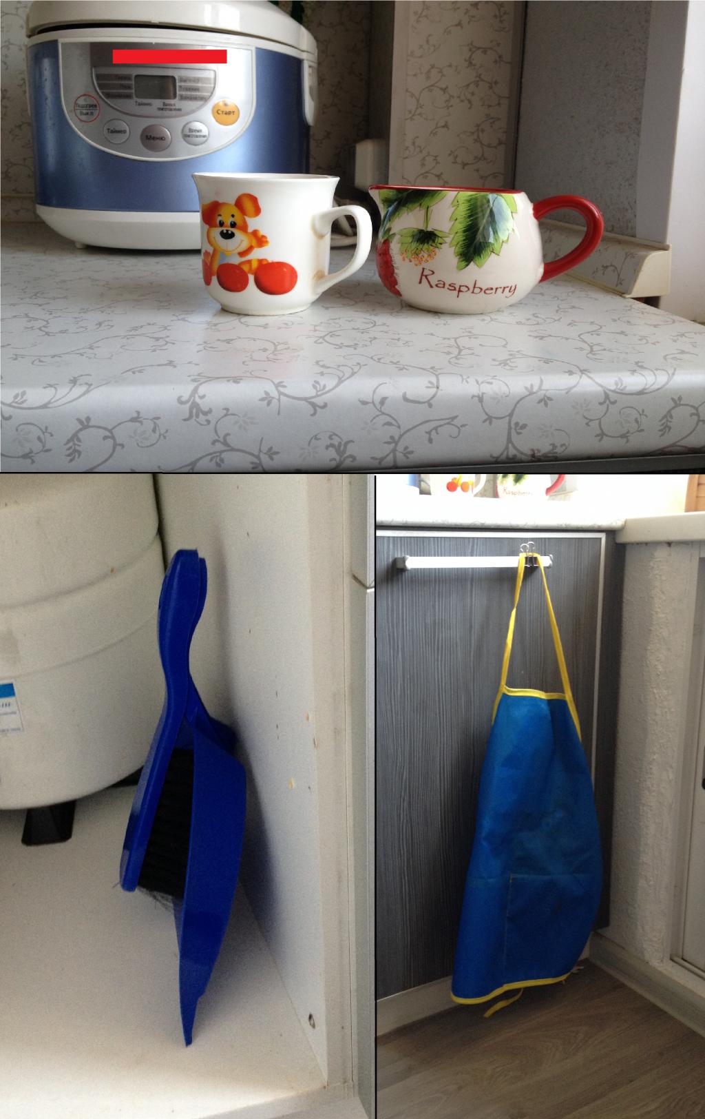 Кухня, оборудованная с учетом роста и потребностей ребенка