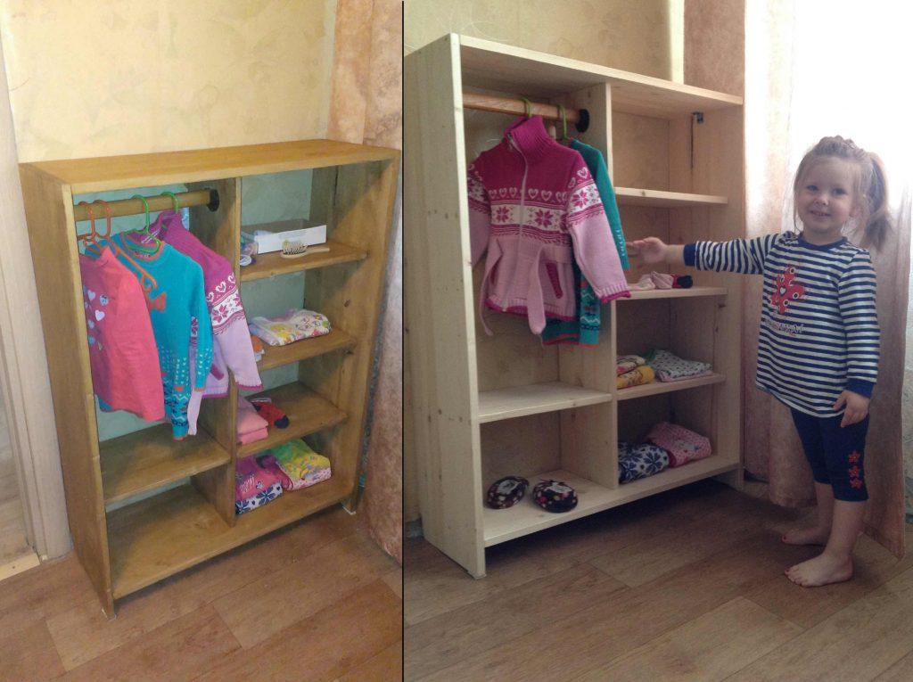 Детский шкаф в Монтессори-комнате