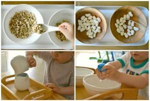 Упражнения с крупой для малыша от 1,5 до 3 лет