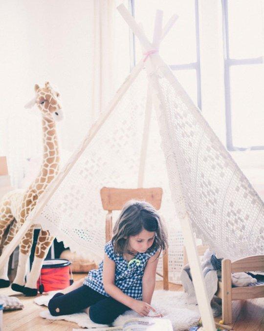 палатка для комнаты девочки