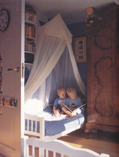 балдахин в комнате мальчика