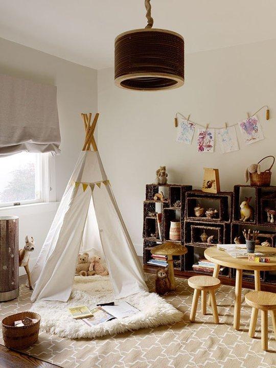 палатка индейца в детской комнате