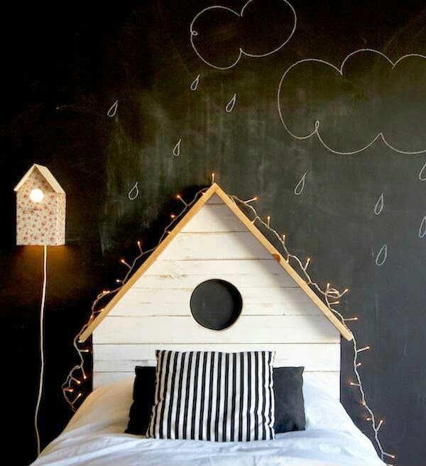 детская комната в темных тонах