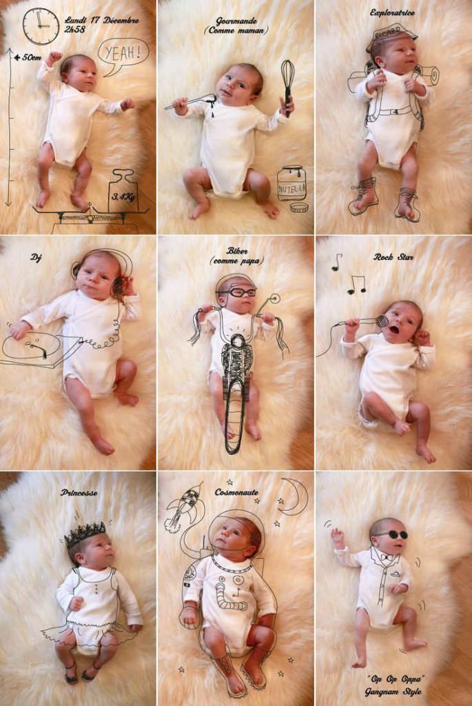 Фотосессии для малышей до года в домашних условиях