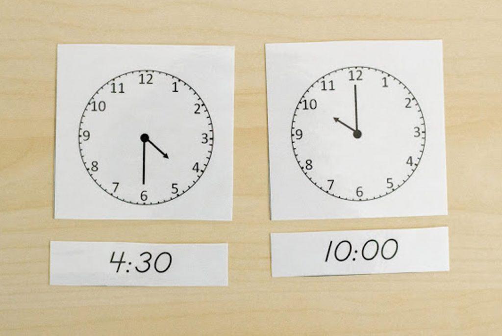 Объясняем понятие «время» по Монтессори