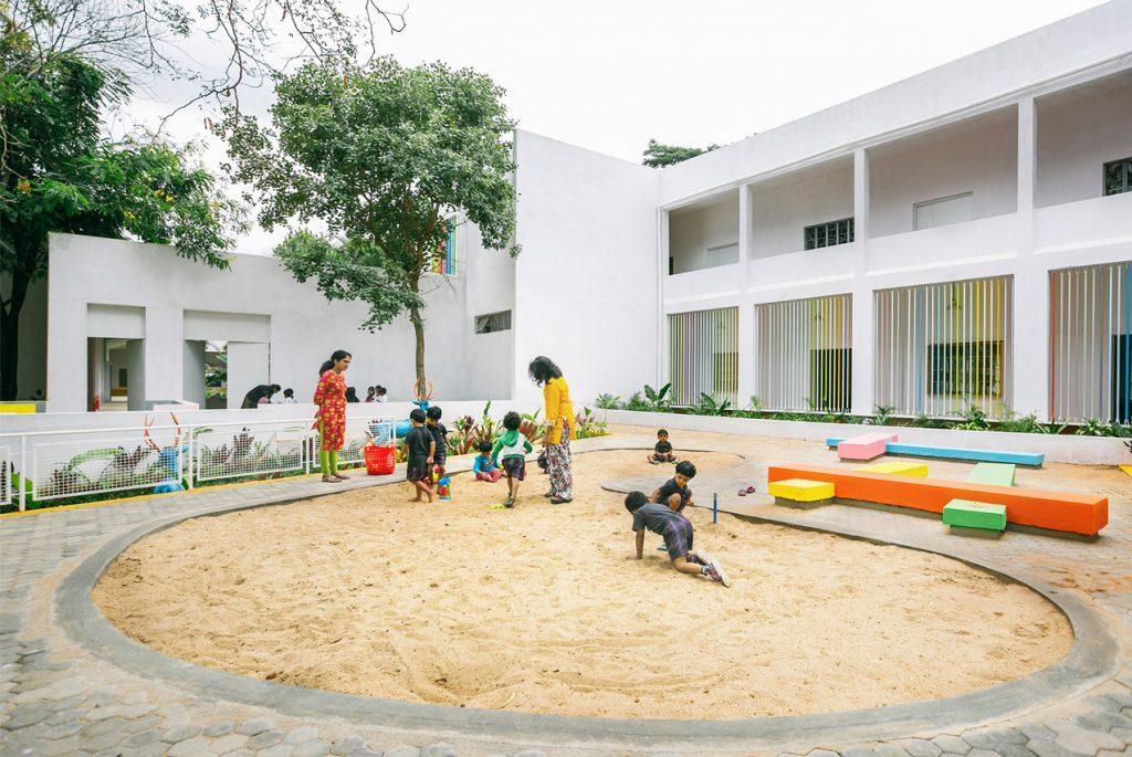 Ekya School: красочное и захватывающее Монтессори-пространство