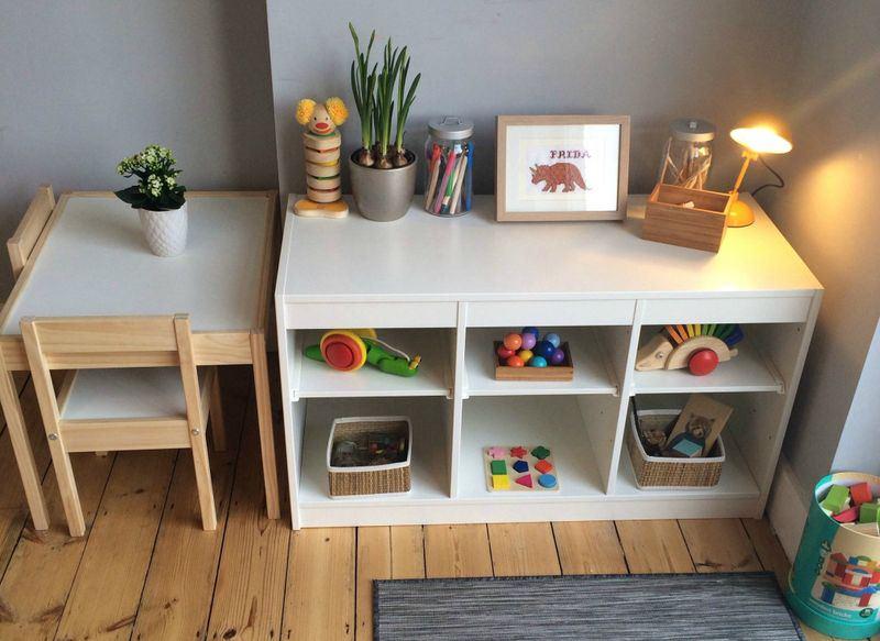 Уголок для творчества, где ребенок мог бы мастерить