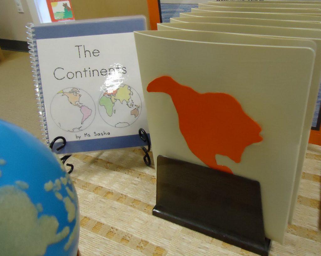 Коробочки континентов и стран для изучения географии