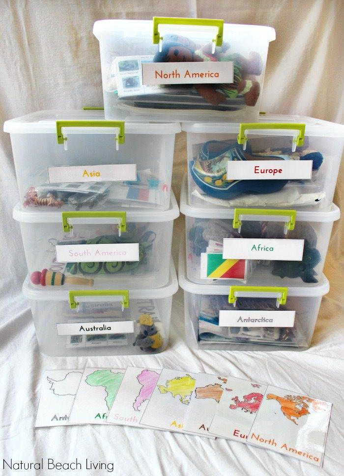 Сенсорные коробки для изучения георграфии