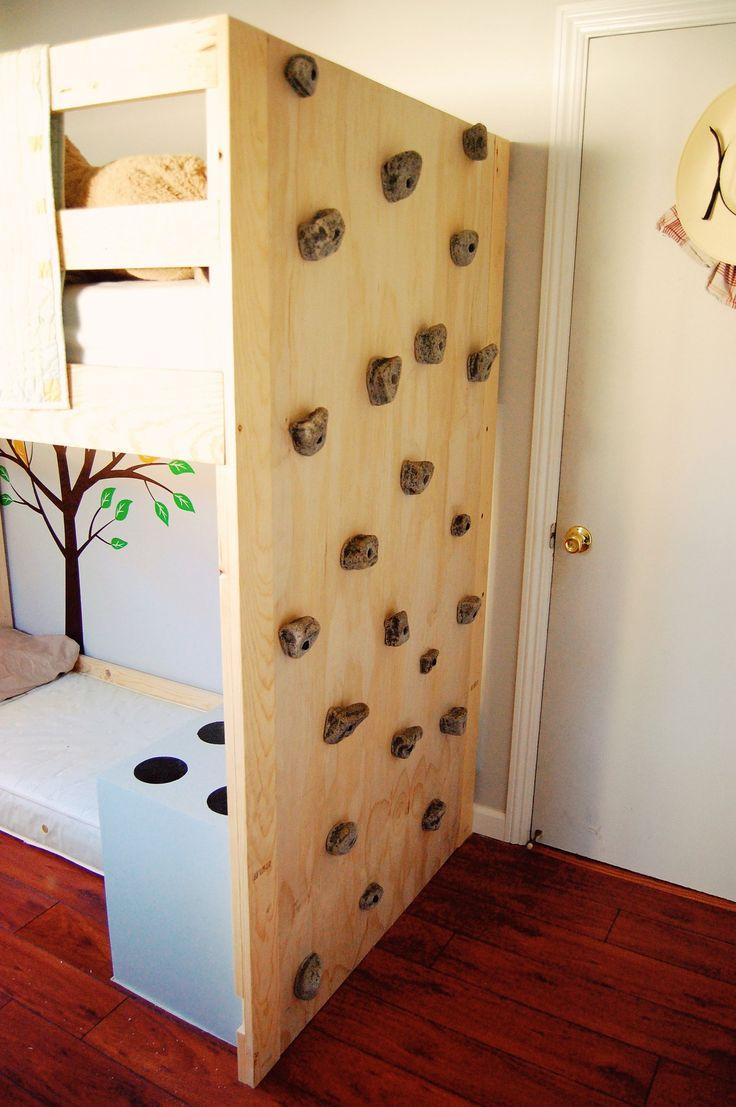 скалодром в детской комнате