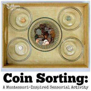сортировка монет для детей