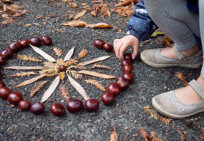 занятия для детей с природными материалами
