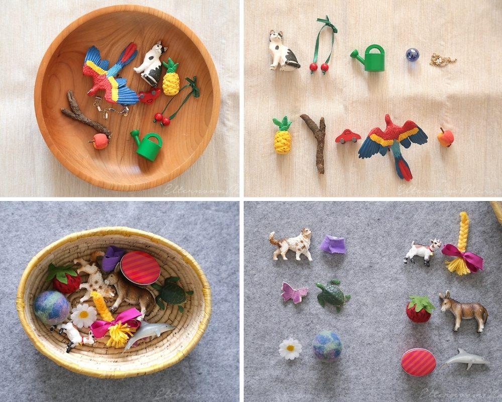Фигурки животных и растений