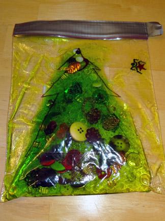 сенсорный пакет новогодняя ёлка