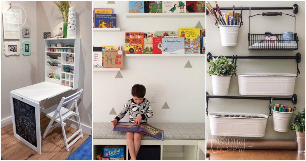 место для детских материалов в маленькой квартире