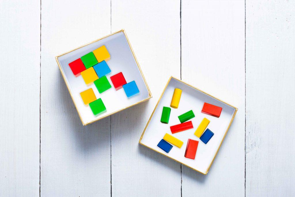 учим математику с помощью коробочек