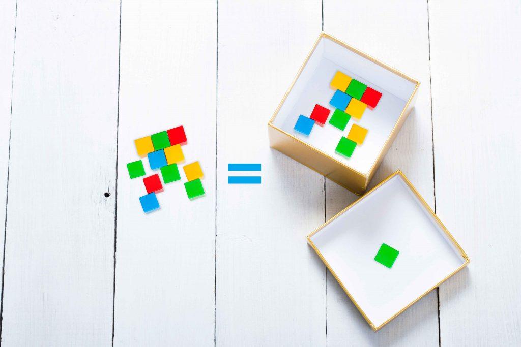 учим математику с помощью коробки