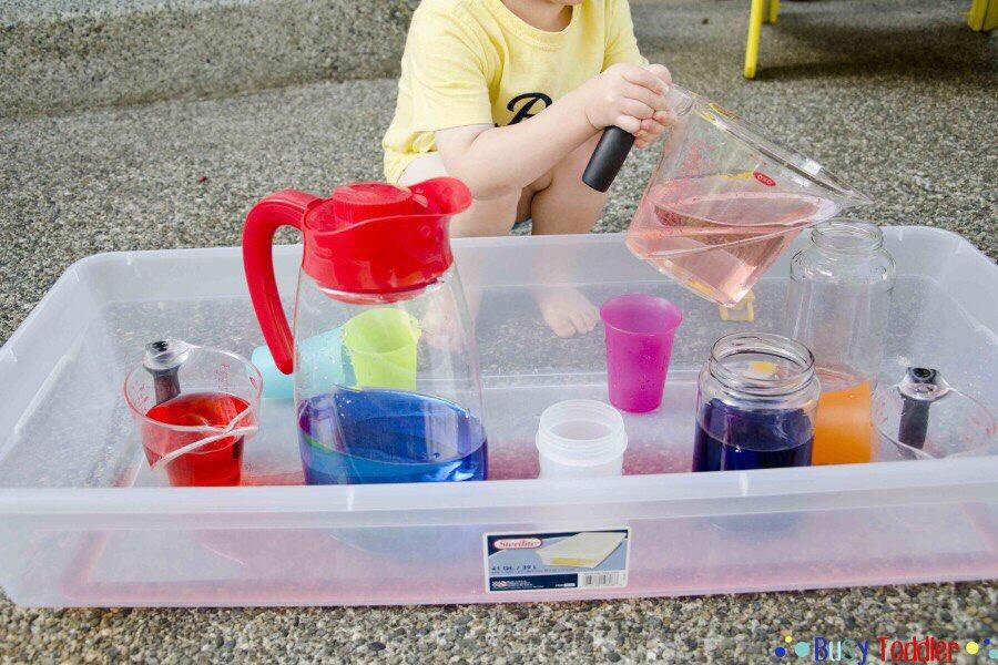 занятия с переливанием воды для разновозрастных детей