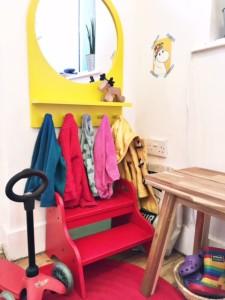 прихожая для ребёнка в маленькой квартире