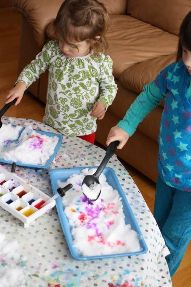 игры со снегом дома для детей