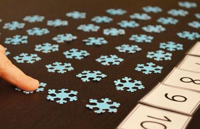 зимние упражнения по математике для ребёнка
