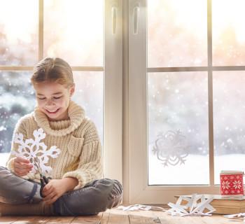 зимние упражнения для ребёнка в стиле Монтессори