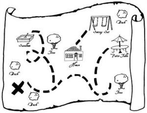 карта сокровищ подвижные игры для старших дошкольников
