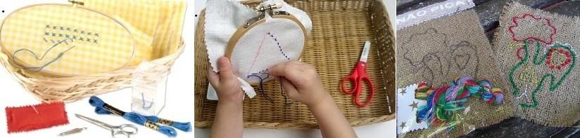 рукоделие для детей в классе Монтессори
