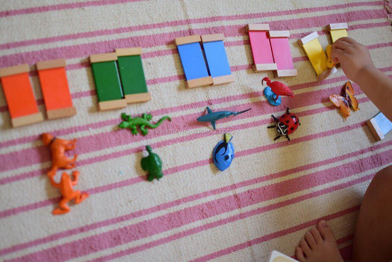 Монтессори-пособия своими руками для ребёнка 3 лет