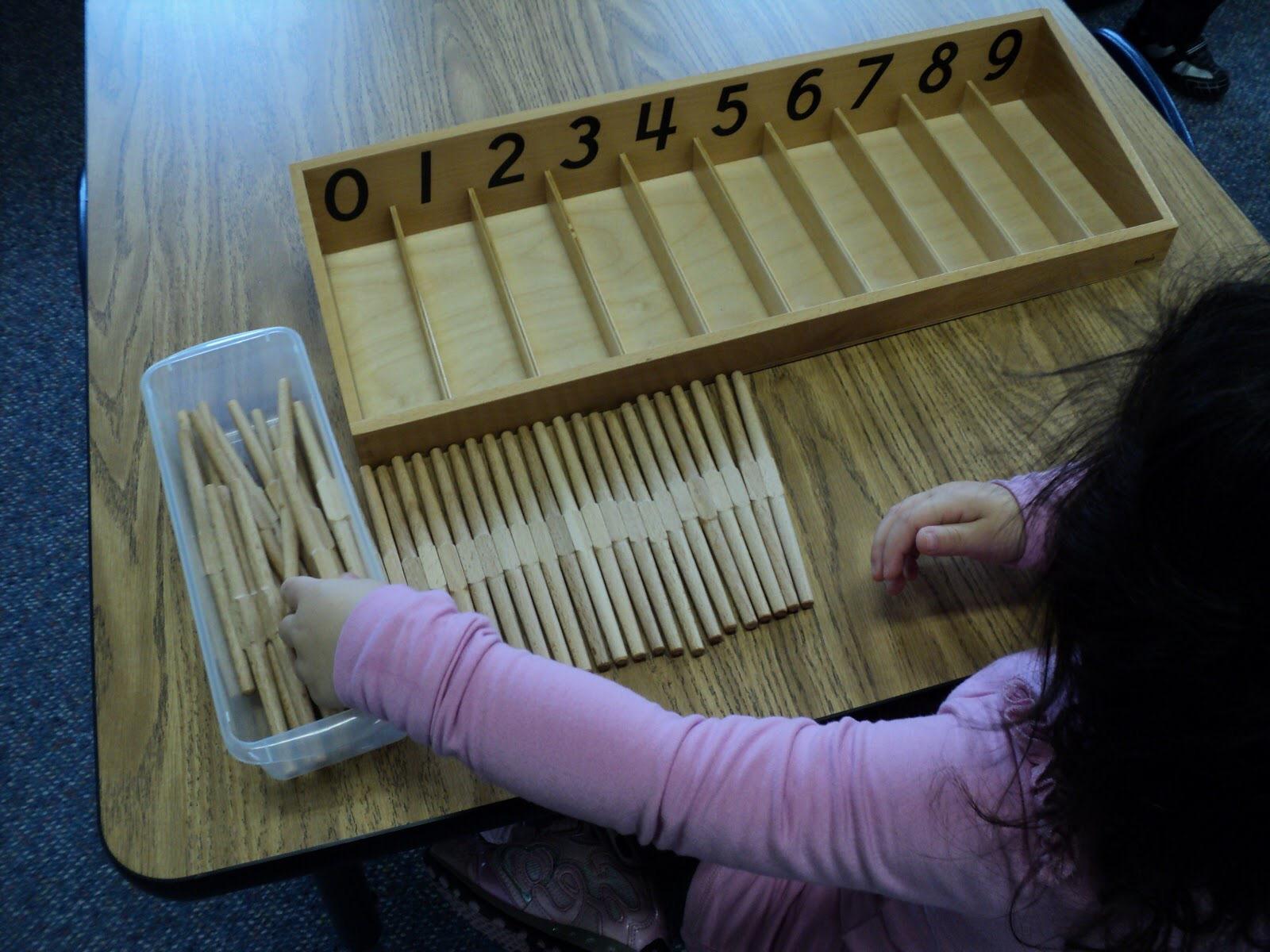 Монтессори-занятие по математике