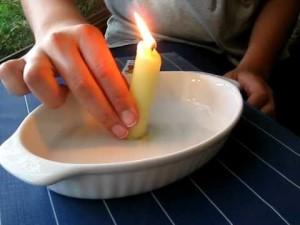 Что горит, а что — нет, Эксперименты для детей