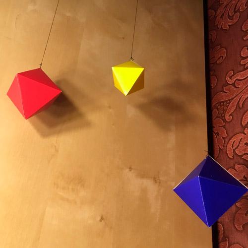 Делаем мобиль из октаэдров