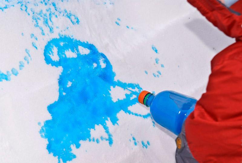 Картины на снегу для детей