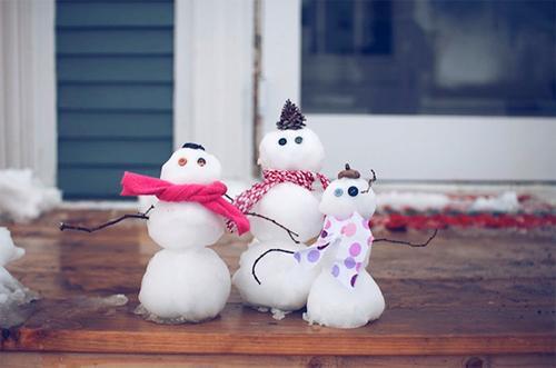 Мини снеговички