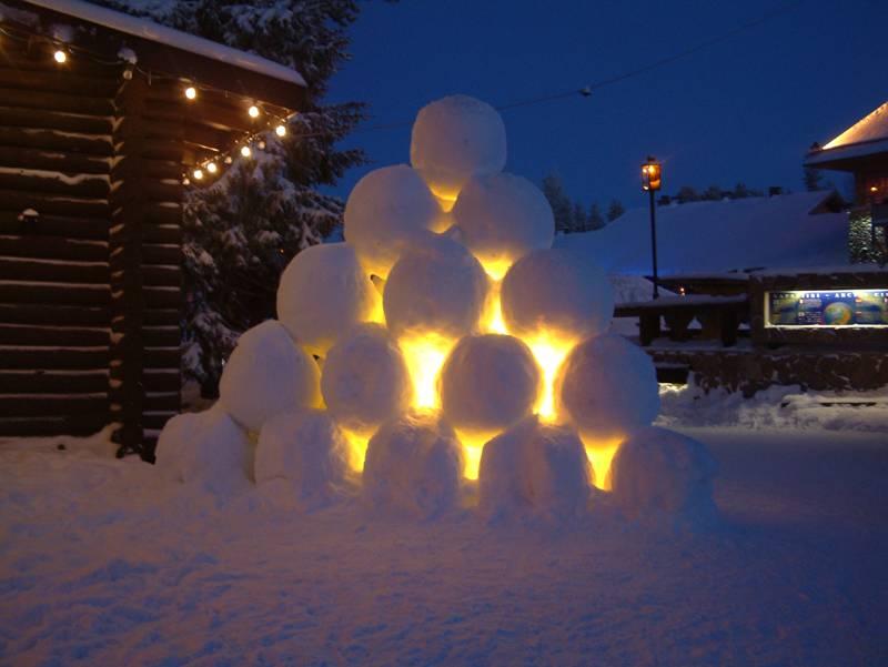 Снежный фонарик