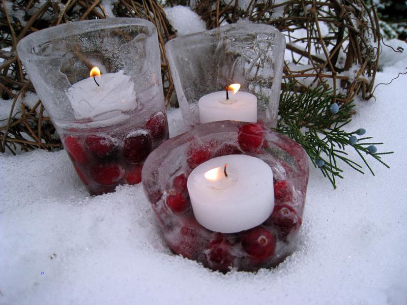 свечи в льде