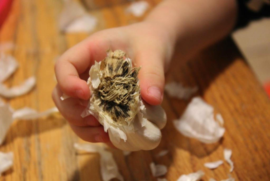 Монтессори-занятие длятренировки пальцев: чисткачеснока