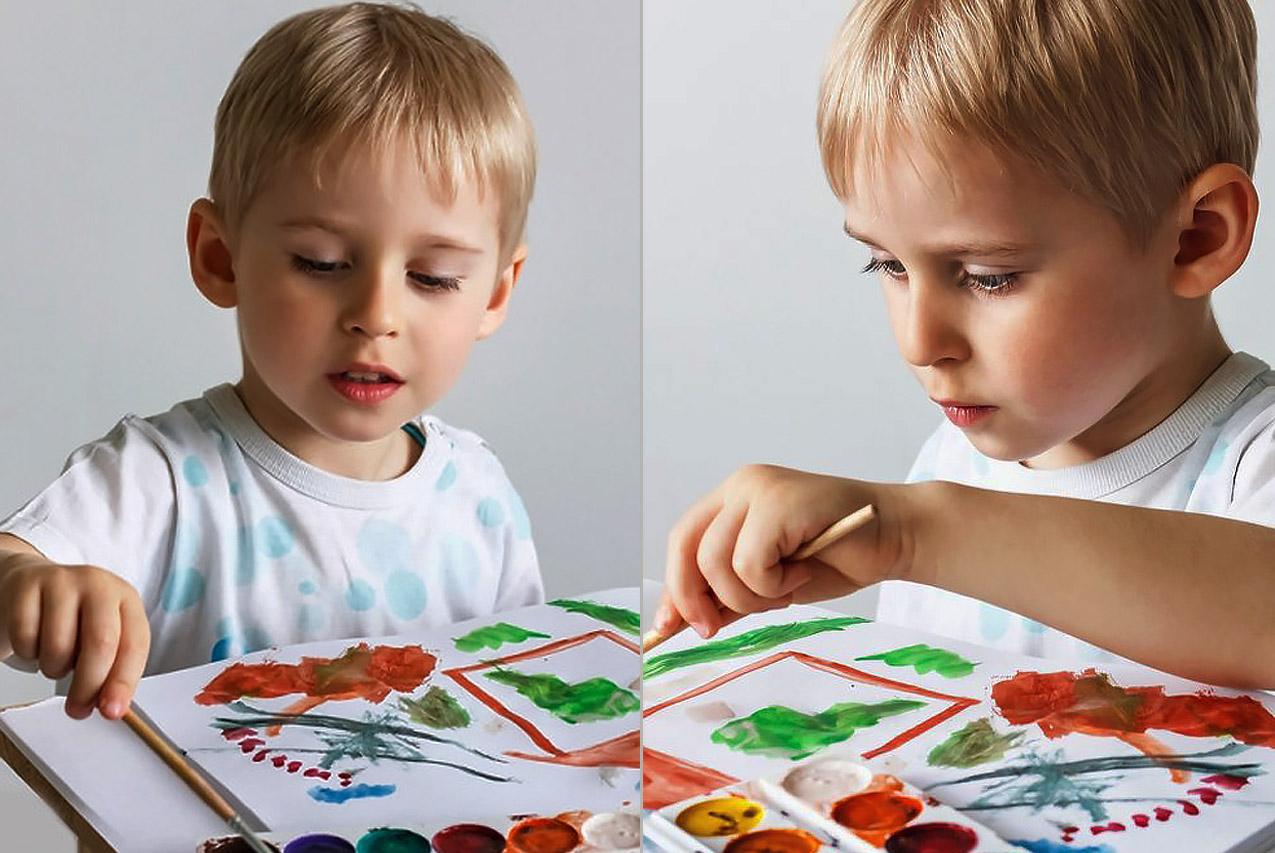 Как ребёнку-левше показывать презентацию материала