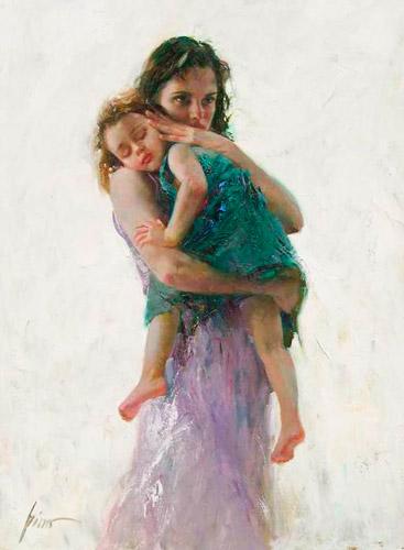 Мама-держит-ребенка-на-руках