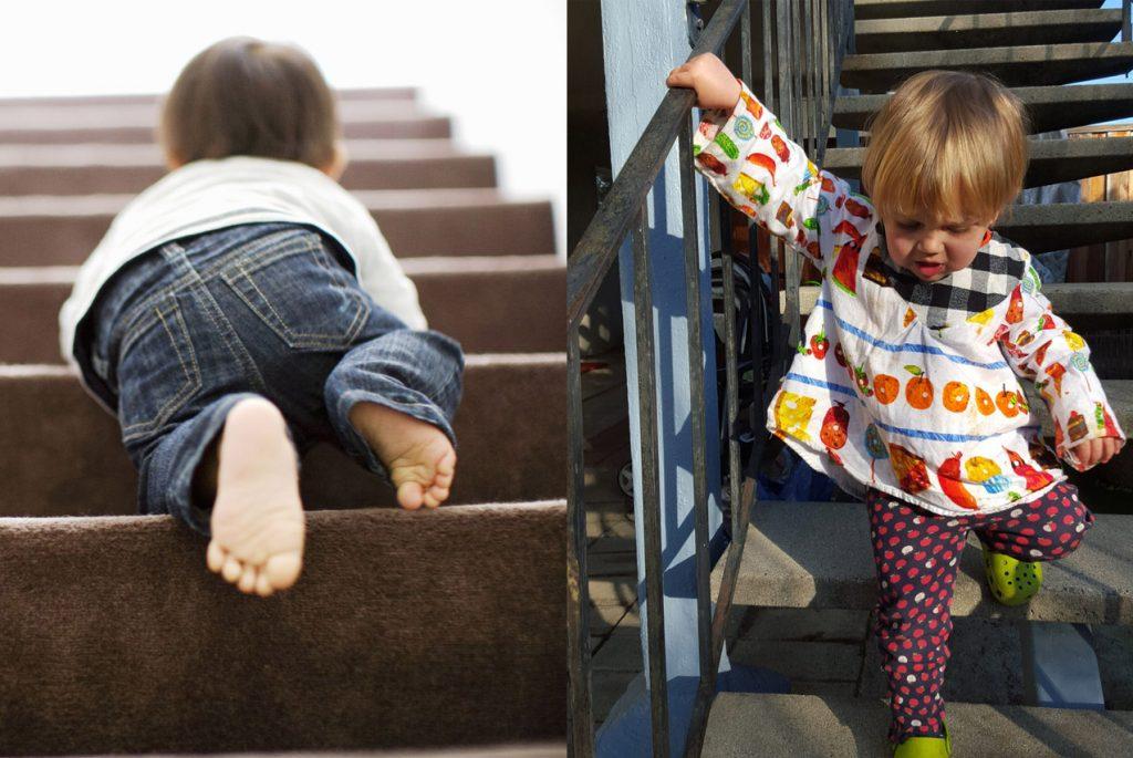 Ребенок-поднимается-на-лестницу-и-спускается-с-лестницы