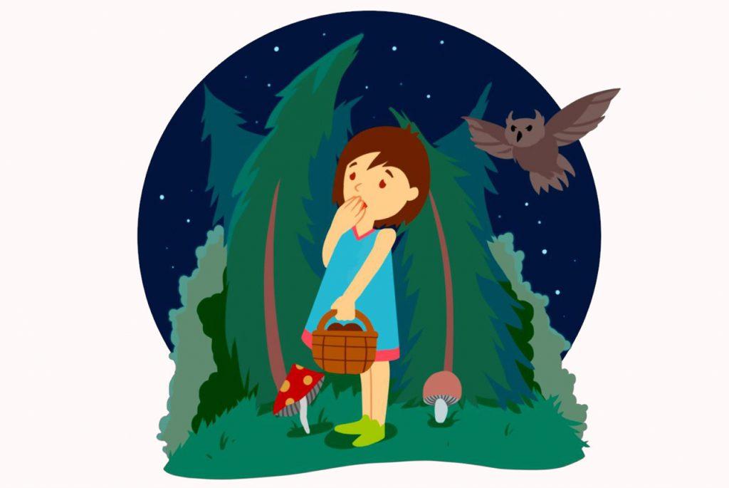 Девочка-заблудилась-в-лесу